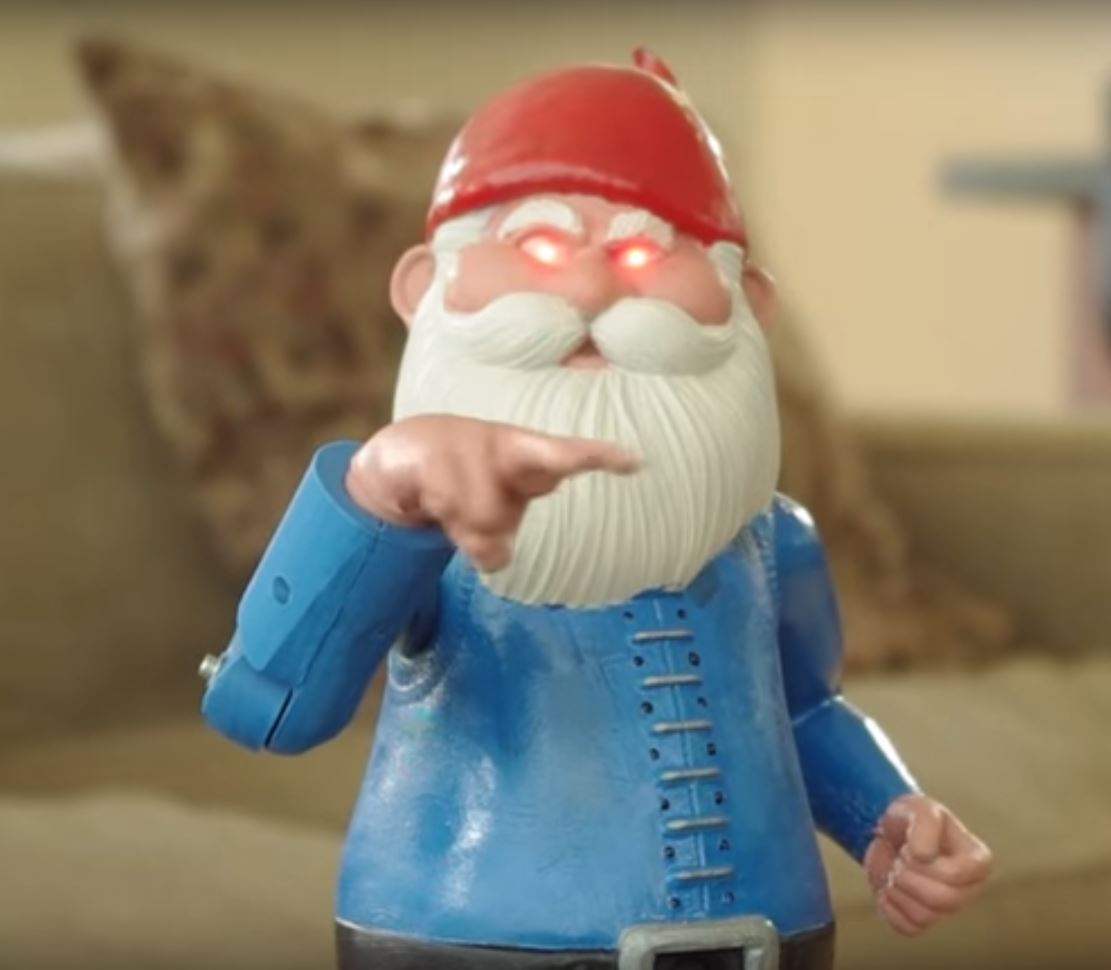 Electronic Guard Gnome
